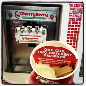 CherryBerry self-serve frozen yogurt
