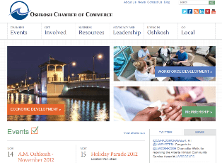 Oshkosh Chamber of Commerce Website - Responsive Website Design