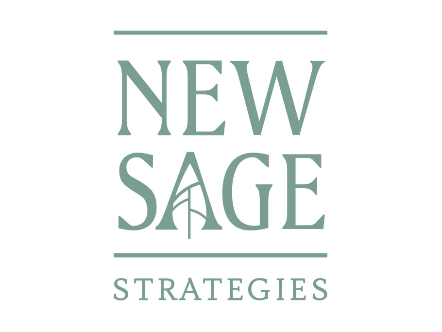 Blue Door Consulting Communicator Award New Sage Strategies Logo