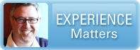 "Matt Vanderlinden's picture with the caption ""Experience Matters"""