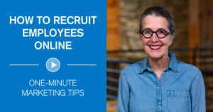 How to recruit employees online - one minute marketing tips