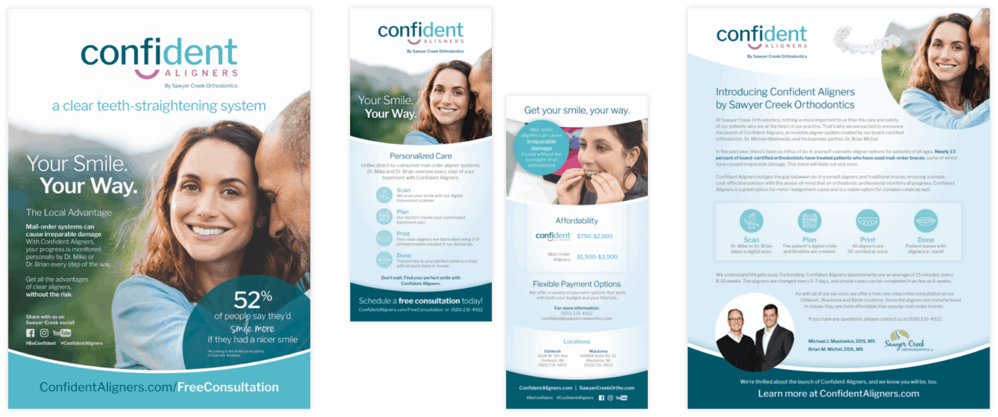 Confident Aligners marketing collateral